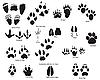 Vektor Cliparts: Tier-Spuren mit Titel