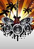 musikalischer Grunge-Hintergrund