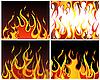 Set von Feuer-Hintergründen