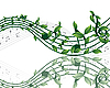Hintergrund von Musiknoten