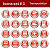 Set von Transport-Icons