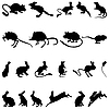 ID 3177704 | Silhouetten von Nagetieren | Stock Vektorgrafik | CLIPARTO