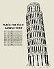 Pizansky Turm an der Miracle Feld. Italien