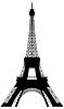 Silhouette Eiffelturms