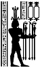 ägyptischen Hieroglyphen und Fresko