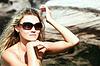 ID 3292045 | Piękna kobieta w bikini i okulary | Foto stockowe wysokiej rozdzielczości | KLIPARTO