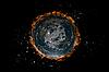 ID 3083008 | Flat Earth planety wewnątrz gwiazd i ognia | Stockowa ilustracja wysokiej rozdzielczości | KLIPARTO