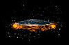 ID 3083010 | Плоская Земля посреди звезд и огня | Иллюстрация большого размера | CLIPARTO