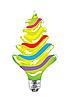 Glühbirne als Weihnachtsbaum