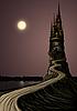 Высокая средневековая башня | Иллюстрация