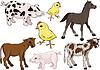 Set von Babys-Nutztieres