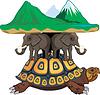 ID 3305165 | Żółw i słonie obsługuje nasz świat | Klipart wektorowy | KLIPARTO
