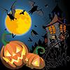ID 3305183 | Открытка на Хеллоуин с тыквами | Векторный клипарт | CLIPARTO