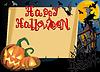 Halloween-Karte mit Rolle-Rahmen