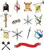 Set von mittelalterlichen Waffen-Icons