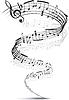 ID 3305251 | Musik-Noten in eine Spirale verdreht | Stock Vektorgrafik | CLIPARTO