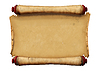 Horizontal Old Blank Scroll | Stock Illustration