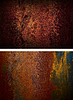 Две ржавых железных пластины | Фото