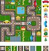 Карта-схема улиц | Векторный клипарт