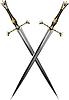 zwei gekreuzten Schwert