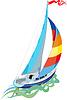 Парусный спорт - парусная яхта | Векторный клипарт
