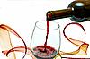 Rotwein aus einer Weinflasche | Stock Foto