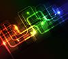 abstrakter Hintergrund mit leuchtenden Elementen