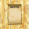 ID 3109056 | Poster Wanted auf Holzplanken | Illustration mit hoher Auflösung | CLIPARTO