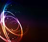 Stilisierter abstrakter Hintergrund mit leuchtenden Linien