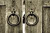 ID 3083700 | Altes hölzernes Tor mit Türklopfer-Ringen | Foto mit hoher Auflösung | CLIPARTO
