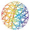 abstrakte Sphäre aus farbigen Linien