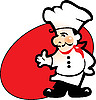 Kucharz, obsługa w restauracji | Stock Vector Graphics