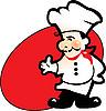 Koch, Restaurant-Service | Stock Vektrografik