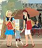 ID 3094363 | Mädchen vor Schaufenstern | Stock Vektorgrafik | CLIPARTO