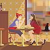 Zwei Freundinnen | Stock Vektrografik