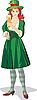 Векторный клипарт: дама на празднике пива в день Св. Патрика