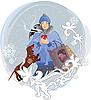 Winter-Mädchen | Stock Vektrografik