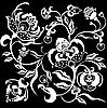 Czarny kwiat projektu | Stock Vector Graphics