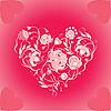 Serce z kwiatów | Stock Vector Graphics