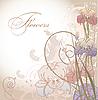Wzór kwiatowy z kwiatu irysa | Stock Vector Graphics