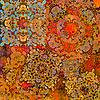 Egzotyczne orientalne pomarańczowe tło | Stock Illustration