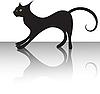 Black cat | Stock Vector Graphics