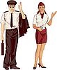 Flugbegleiter und Pilot | Stock Vektrografik