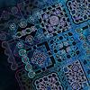Pattern dark blue background | Stock Illustration