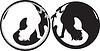 Czarno-białe koty | Stock Vector Graphics