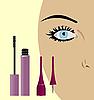 마스카라와 여성 눈 | Stock Vector Graphics