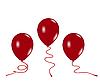 ID 3084019 | Drei rote Luftballons | Stock Vektorgrafik | CLIPARTO