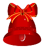 Rotes Weihnachtsglöckchen