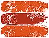 Reihe von horizontalen floral Herbst Banner
