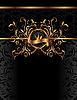 Luxus-Hintergrund mit goldenem Ornament